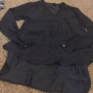 Hm shimmer black button up